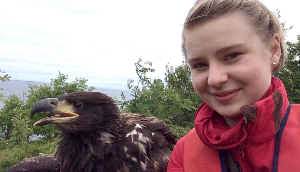 "The ultimate selfie, an ""eaglefie"". Photo: Mari Løseth"